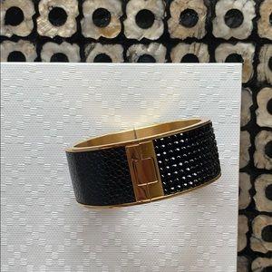 Swarovski // Black & Gold Bangle